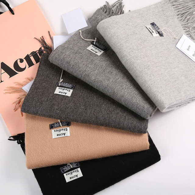 2016hot fashion luxury brands solid color cashmere shawl scarf shawl winter cape female femininity popular accessories for gifts