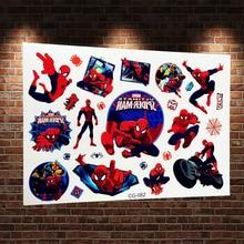 3D Spiderman Temporary Tattoo Sticker Kids Waterproof Flash Tattoo Spider Man Children Body Arm Tattoo Superheros Fake Tatoo