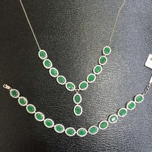 2017 Qi Xuan_Fashion Jewelry_Colombian Green Stone Fashion Necklaces_S925 Solid Silver Pendant Necklaces_Factory Directly Sales