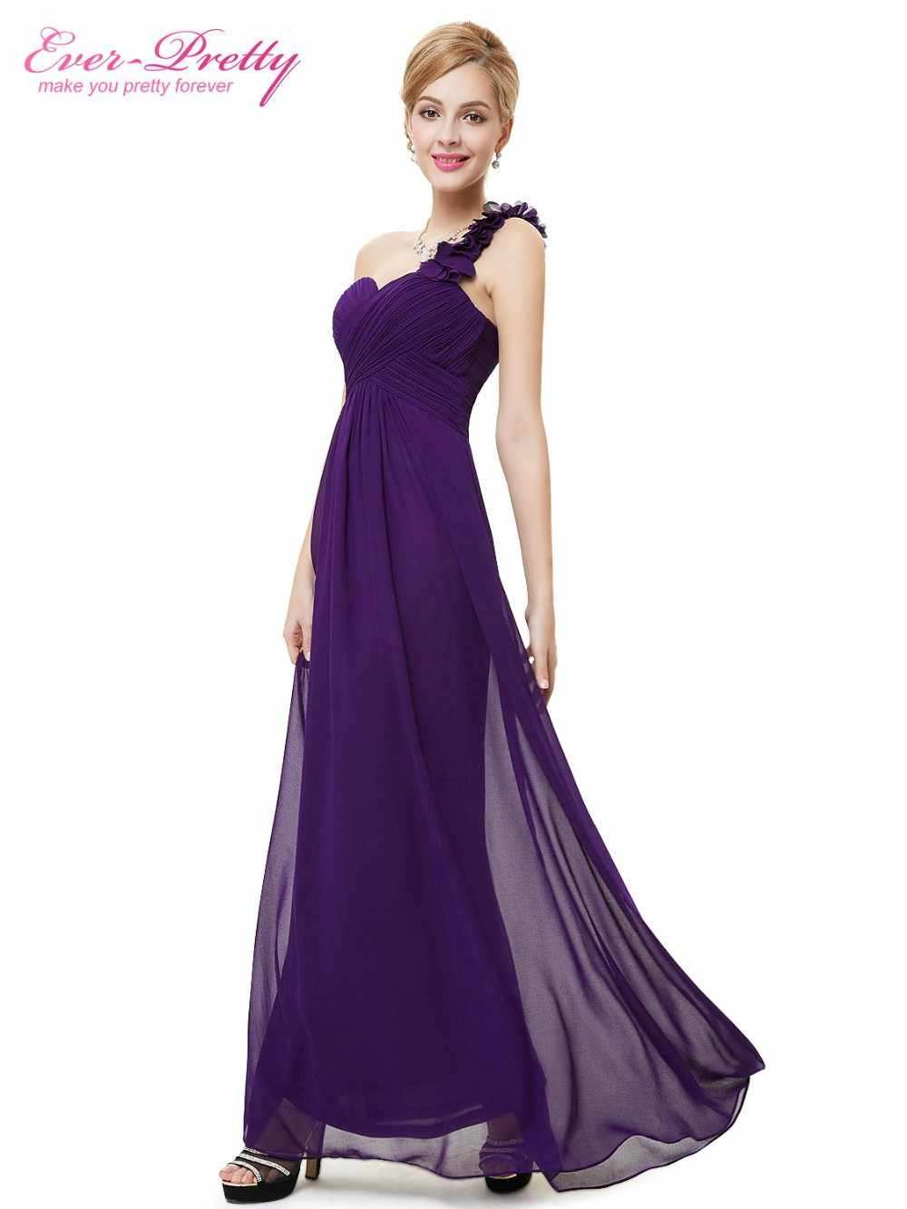فساتين سهرة من أي وقت مضى جميلة EP09768 الزهور طويلة الأزرق مبطن كبير الحجم المرأة زهرة الأسود الشيفون 2019 فستان رسمي لحفل الزفاف