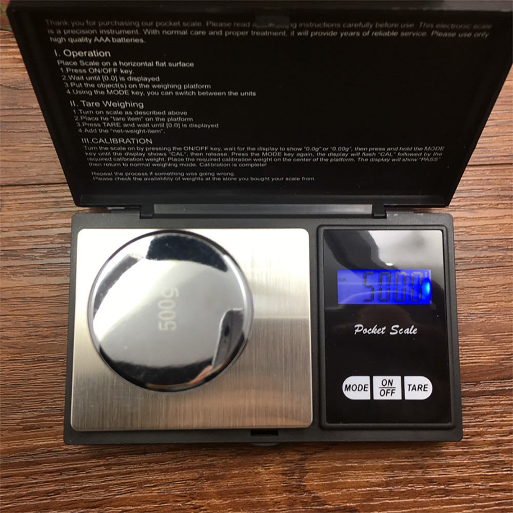500g Precision Digital Scales for Gold Jewelry 0.01 Weight Electronic Scale Kitchen LCD Digital Electronic Coffee Scale Jun 25