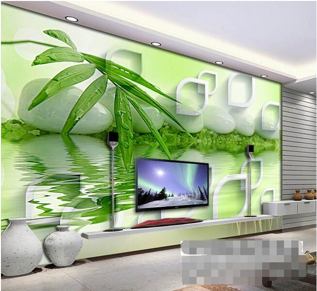 3d Wallpaper Custom Mural Non Woven Room Hd 3 D TV Setting Wall Water Bamboo Murals Photo In Wallpapers From Home