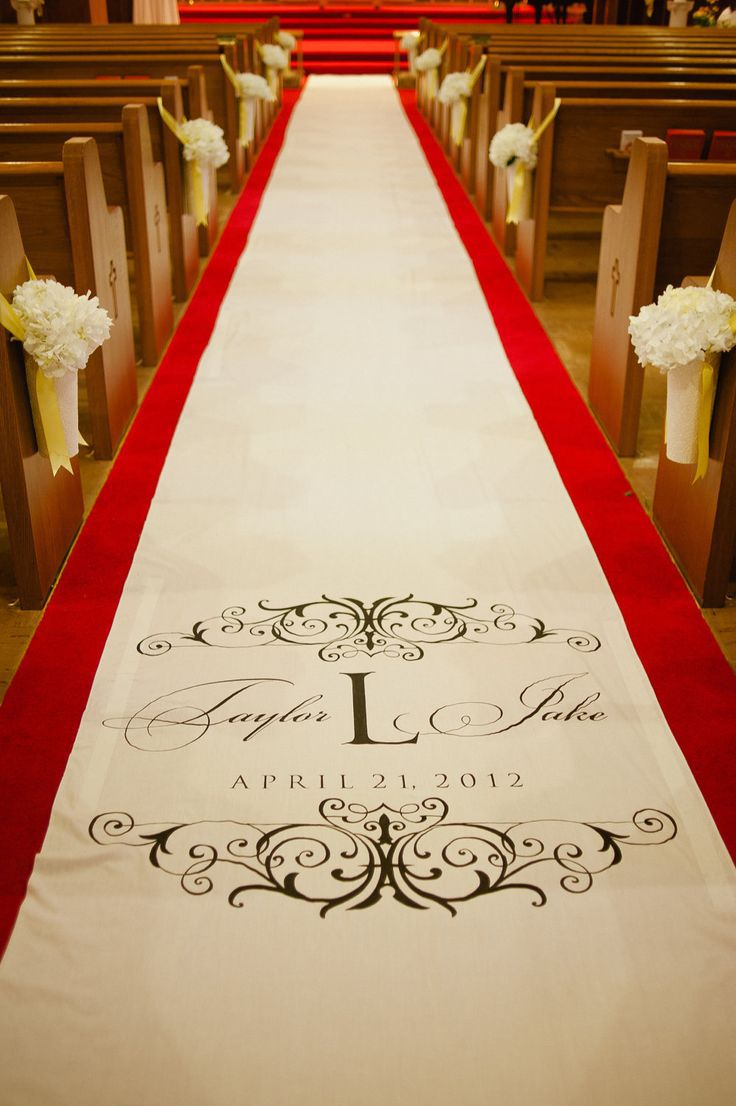 Custom Monogram Carpet Wedding Aisle Runner Custom Aisle