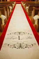 Custom Monogram Carpet, Wedding Aisle Runner, Custom Aisle Runner, Quality T/C,37(W)*50Ft(L) ,DIY transfer runner