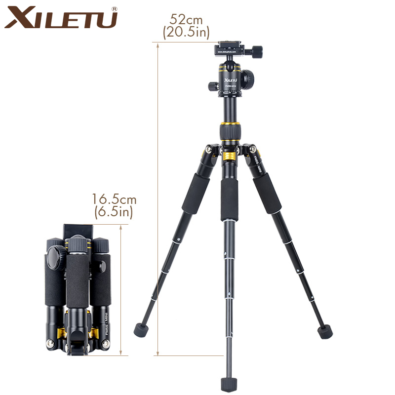 ФОТО Extendable Aluminium Tabletop Travel Tripod with Ball Head Quick Release Plate with Carring Bag for Canon Nikon DSLR Camera