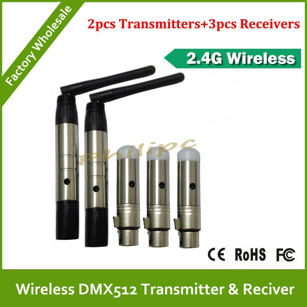 DHL  Free Shipping Wireless DMX transmitter and receiver for battery powered  dmx led light dhl free shipping 3pins xlr wireless dmx receiver and transmitter for led stage light