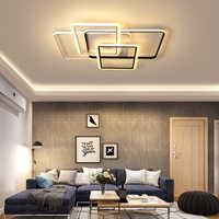 Rectangle nouveauté plafond moderne à LEDs lumière pour salon chambre créative led plafonnier lampara de techo plafonnier led