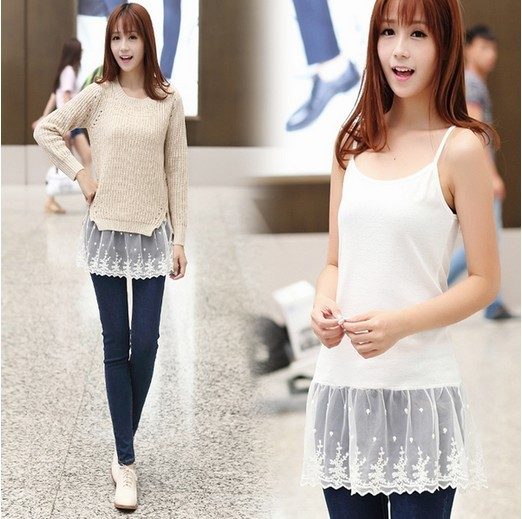 3 Colors Summer High Street Basic Clothing Female New Korean Style Spaghetti strap Lace Women Tops Cotton Sexy Camisole 10