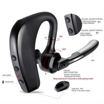 2019 Newest K10 Bluetooth Earphone Wireless Headphones Stereo Handsfree Noise Reduction Headset HD Mic Earbuds Not TWS Earbuds