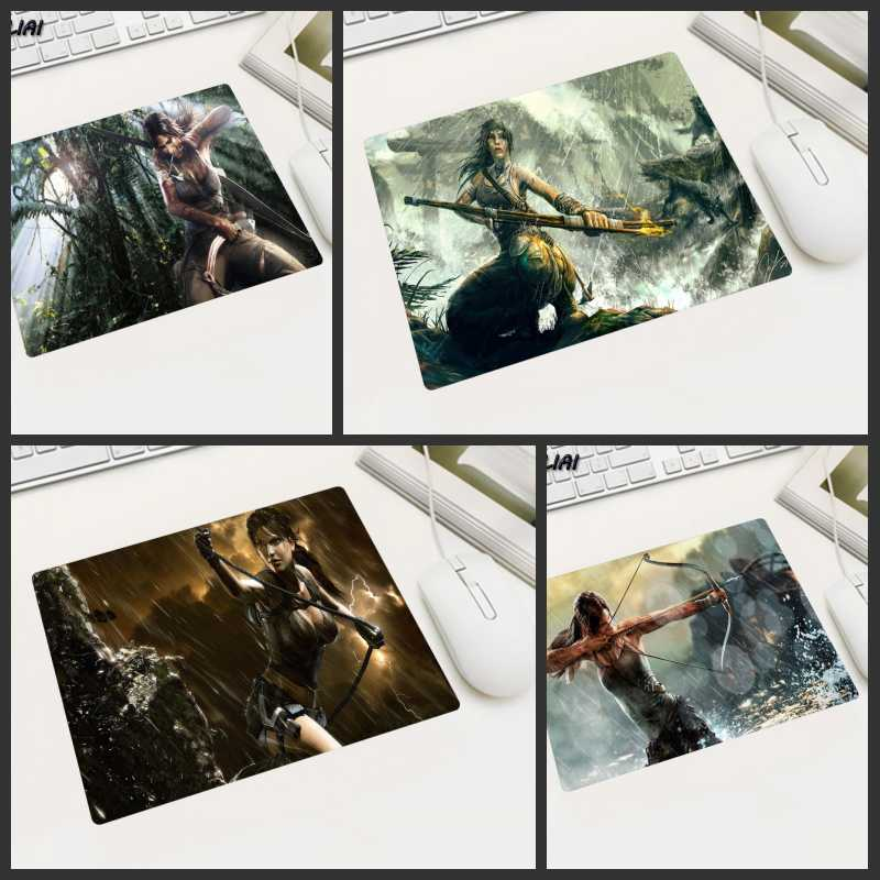KULIAI Rubber Game Wallpaper Mouse Pad 22X18 25X20 29X25 CM Non-slip Player Tomb Raider  ...