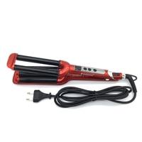 Sale 3 Barrels LCD Display Rollers Ceramic Triple Curling Hair Waver Iron Curling Deep Wave Curler Hair perm Freeshipping