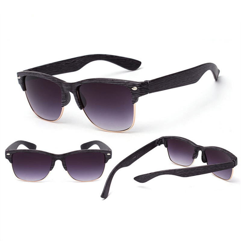 2019 neue Mode Holzimitat Damen Sonnenbrille klassischen Markendesign - Bekleidungszubehör - Foto 4