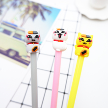 3 pcs/lot Cute cartoon fat cat Gel Pen kawaii stationery School Supplies Office writting pens paperlaria