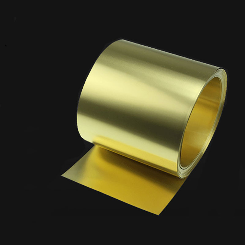 1meter  0.05mm Thickness Brass Sheet Metal Thin Foil Plate Shim Industry Materials For Metalworking Welding