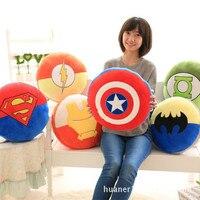 Karikatür Avengers yastık Avengers Kaptan Amerika Kalkanı Superman Demir Adam Peluş oyuncaklar yastıkları yastık
