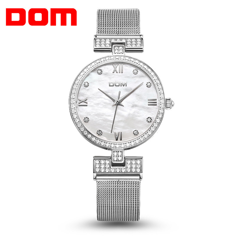 2017 DOM Watches Women Brand Luxury Quartz Watch Women Fashion Relojes Mujer Ladies Wrist Watches Business Relogio Feminino kimio brand fashion luxury ceramics women watches imitation clock ladies bracelet quartz watch relogio feminino relojes mujer