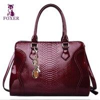 FOXER Women S Genuine Leather Handbags Ladies Messenger Bag Fashion Vintage New 2013 Female Totes Designer
