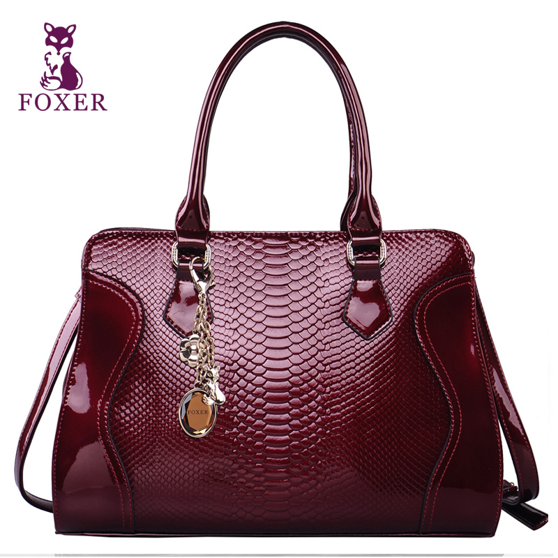 FOXER women leather handbags ladies messenger bag fashion vintage 2018 Luxury tote designer brand shoulder bags high quality tcttt luxury handbags women bags designer fashion women s leather shoulder bag high quality rivet brand crossbody messenger bag