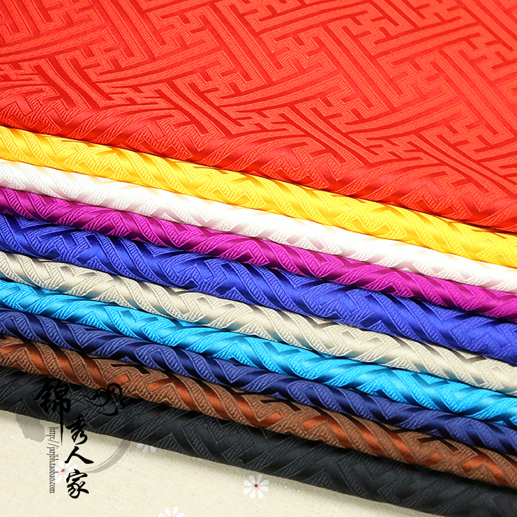 Large paper brocade the Great Wall lattice fabric cloth costume Hanfu Tangzhuang Qipao jacquard silk cloth/100cm*75cm ...