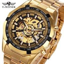 2016 Nuevos Relojes de Moda de Primeras Marcas de Lujo de Los Hombres Automático Esquelético de Oro Relojes Mecánicos Hombre relogio masculino Clásico W/CAJA
