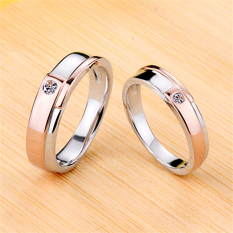 NSCD couple ring rose color men and women wedding ring with certificate price is for one
