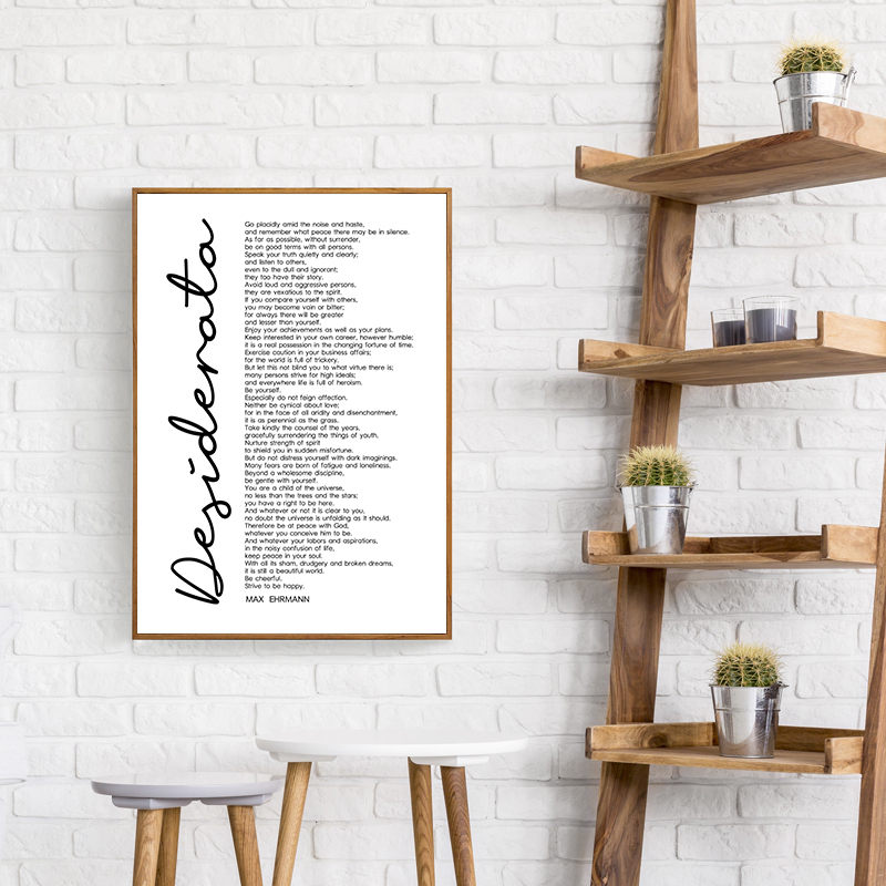 photograph relating to Desiderata Printable known as Desiderata Print Max Ehrmann Poem Bible Poster Decor Inspirational Phrase Printable Wall Artwork Motivational Quotation Canvas DecorHD2626