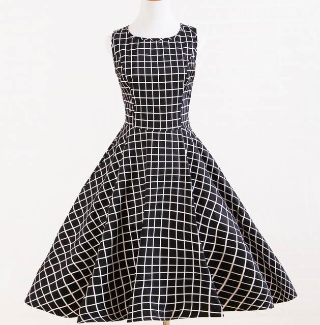 9731f12b6b Online Shop vintage styled plaid black white uk designer dresses retro  inspired boho clothing xxl plus sizes online shopping for women