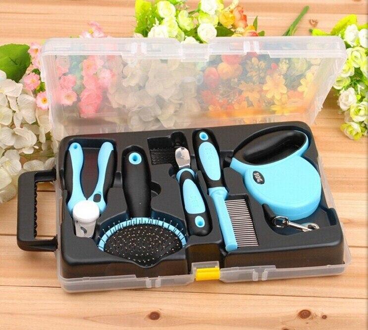 Ножницы и расческа набор инструментов для ухода за домашними животными для собак кошек щенков B0730A продукт - 2