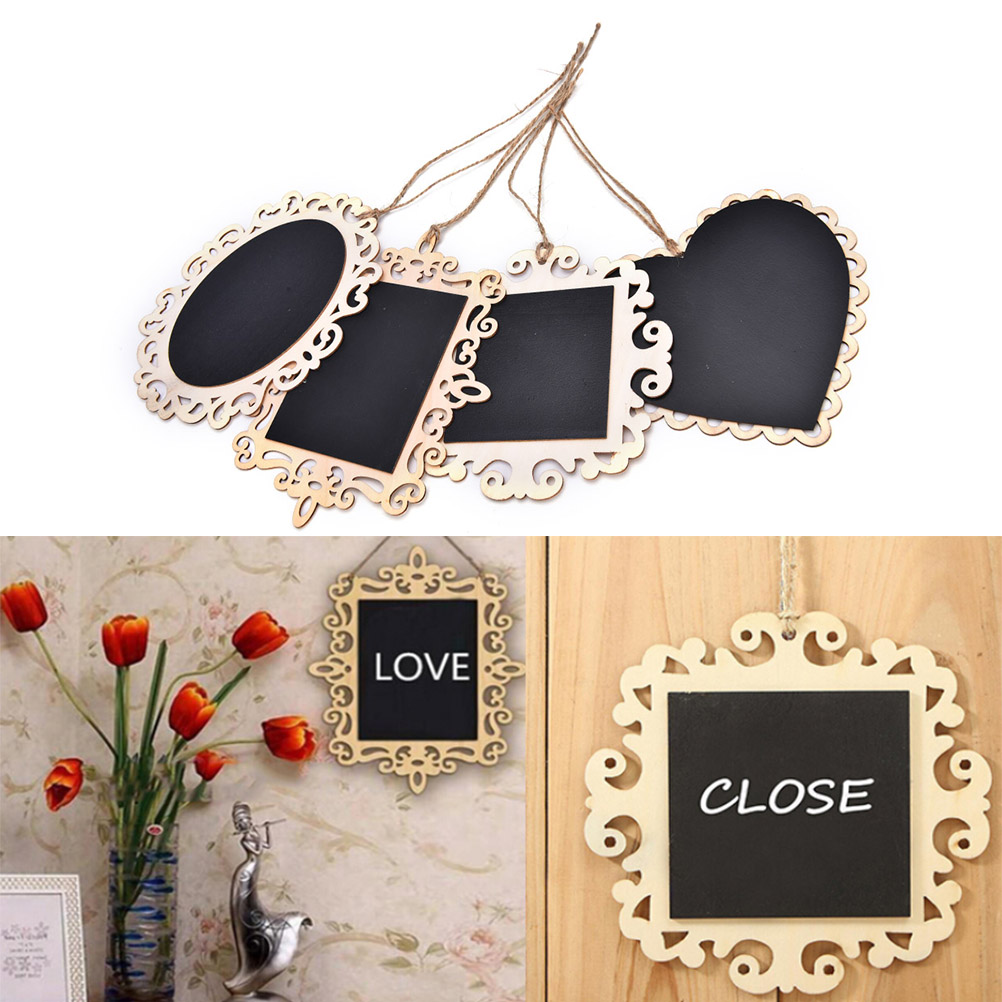 New Wooden Blackboard On Place For Wedding Party Decorations Chalkboards Message Board Vintage Hanging Wood Mini Blackboard