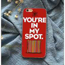 "Sheldon's Cooper ""You're in my spot"" iPhone case"