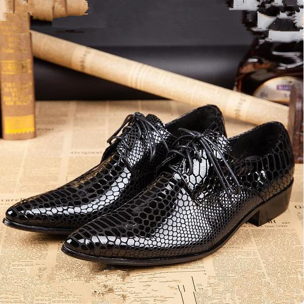 2016 Italian Fashion Designer Mens Dress Shoes Pointed Toe