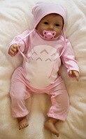 wholesale Cute BeBe Reborn Doll PP Cotton Body 55cm Silicone Reborn Baby Dolls Lifelike Newborn Baby Gift Juguetes Babies Toys