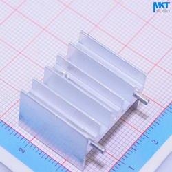100 Шт. 2 Пальцы 23 мм * 16 мм * 20 мм Чистый Алюминий Охлаждения Fin Радиатора Теплоотвод