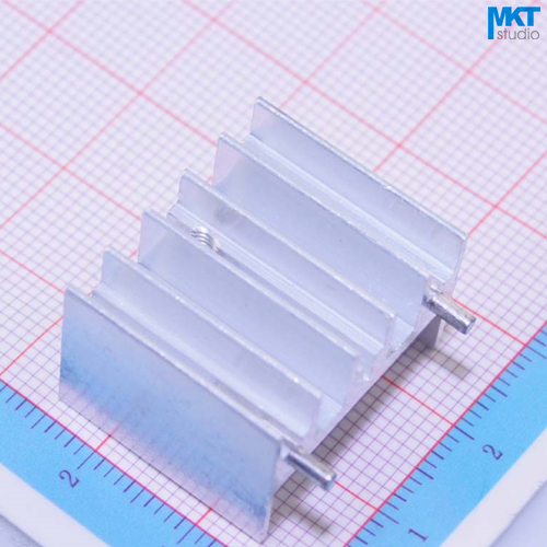 100Pcs 2 Pins 23mm*16mm*20mm Pure Aluminum Cooling Fin Radiator Heat Sink