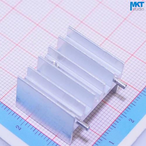 100Pcs 2 Pins 23mm*16mm*20mm Pure Aluminum Cooling Fin Radiator Heat Sink