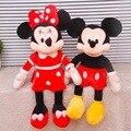 2016 Новый 1 Шт. 40 СМ/50 см Мини Прекрасный Микки Маус Супер плюшевые куклы И Минни Маус Фаршированные Мягкие Плюшевые Игрушки Рождество подарки