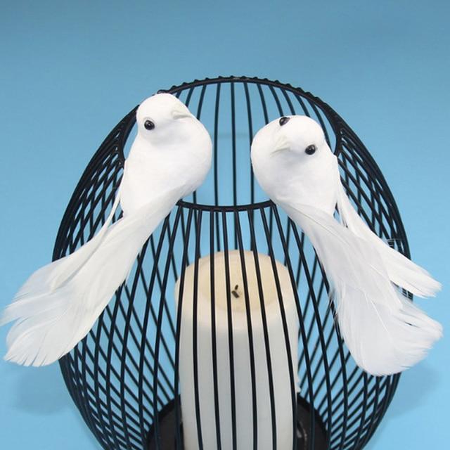 2pcs/set Artificial Foam Feather Lifelike Beads Simulation Bird DIY Party Crafts Ornament Props Home Garden Wedding Decoration 2