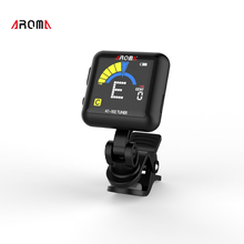 AROMA AT-102 Rechargeable Rotatab Clip On Guitar Tuner Portable Universal Digital Tuner for Chromatic Guitar Bass Ukulele Violin