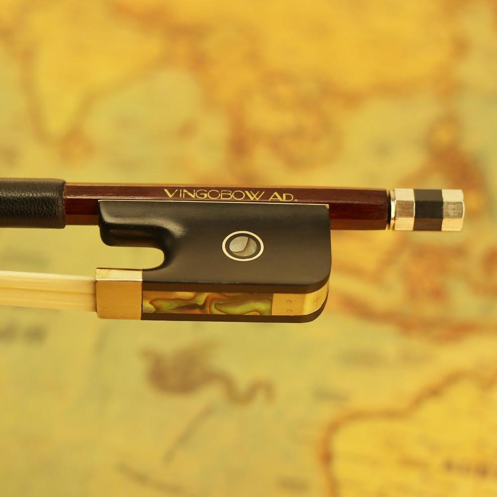 310C 4/4 pune veličine CELLO BOW Brazilwood Stick Ebony žaba nikal - Glazbeni instrumenti - Foto 2