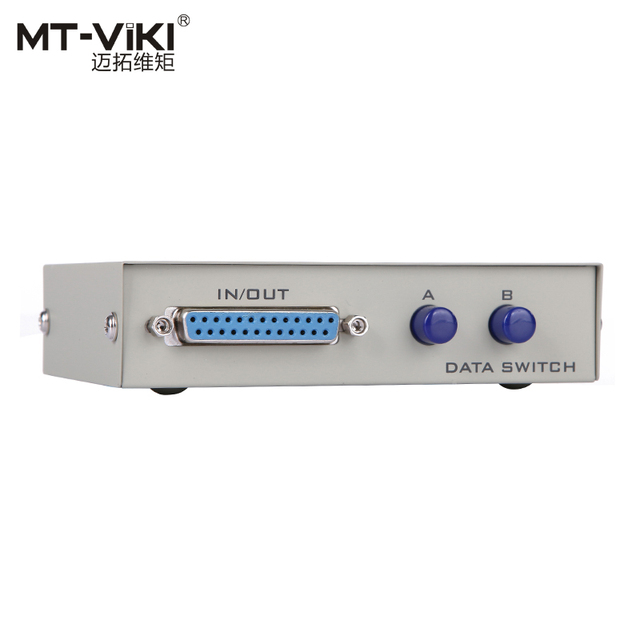 MT VIKI 2 Port DB25 Pararell LPT Printer Sharing Data Switch Selector Manual Button Press 25