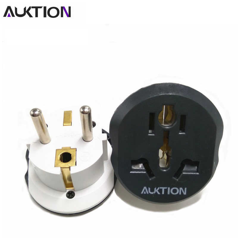 Auktion 16A Universal Uni Eropa (Eropa) converter Adaptor 250V AC Travel Charger Dinding Power Plug Socket Adaptor untuk US UK AU Smart