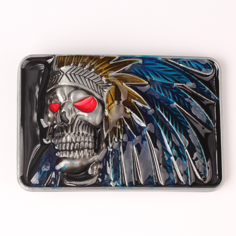 Indian Alloy Buckle The Skeleton Smooth Buckle