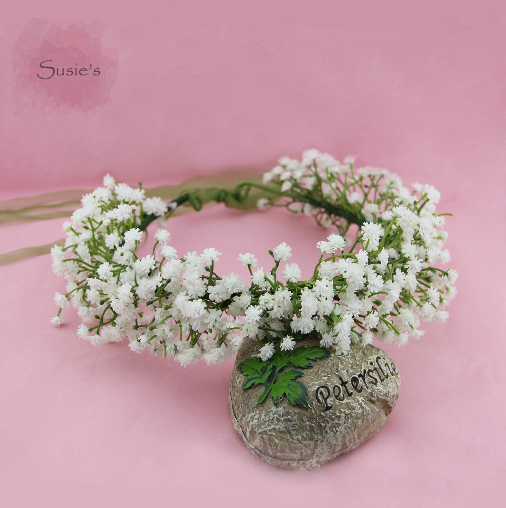 Susies Gypsophila Babys Breath Crown Babys Breath Flower