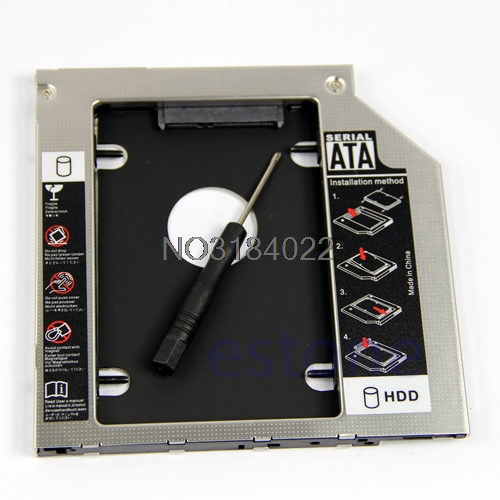цена на 2nd HDD Caddy 9.5mm SATA to SATA Hard Drive Adapter For Laptop Universal CD/DVD