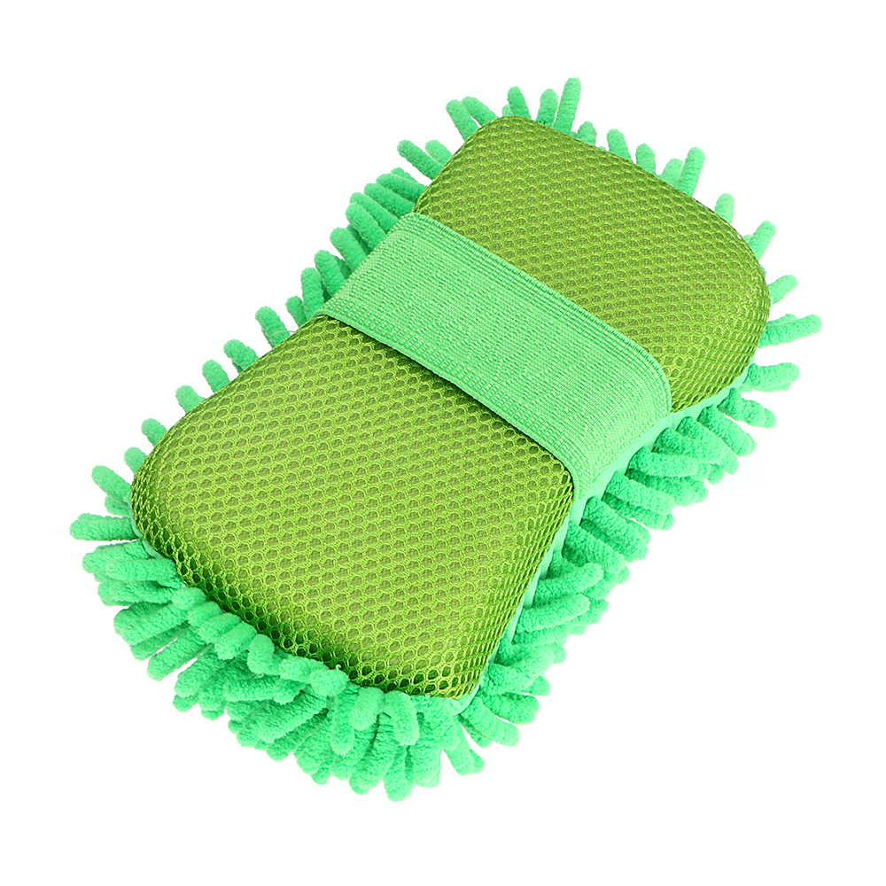 Microfiber Car Cleaning Tool Chenille Green Washing Gloves Car Accessories Wash Car-styling Auto Care Washer