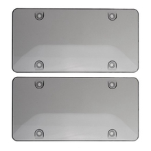 durable transparent license plate cover frame for usa plastic license tag cover holder vehicle car styling modified 31cmx16cm 2X Clear /Smoke License Plate Frame Cover Bug Shield Tag Protector Car Truck RV