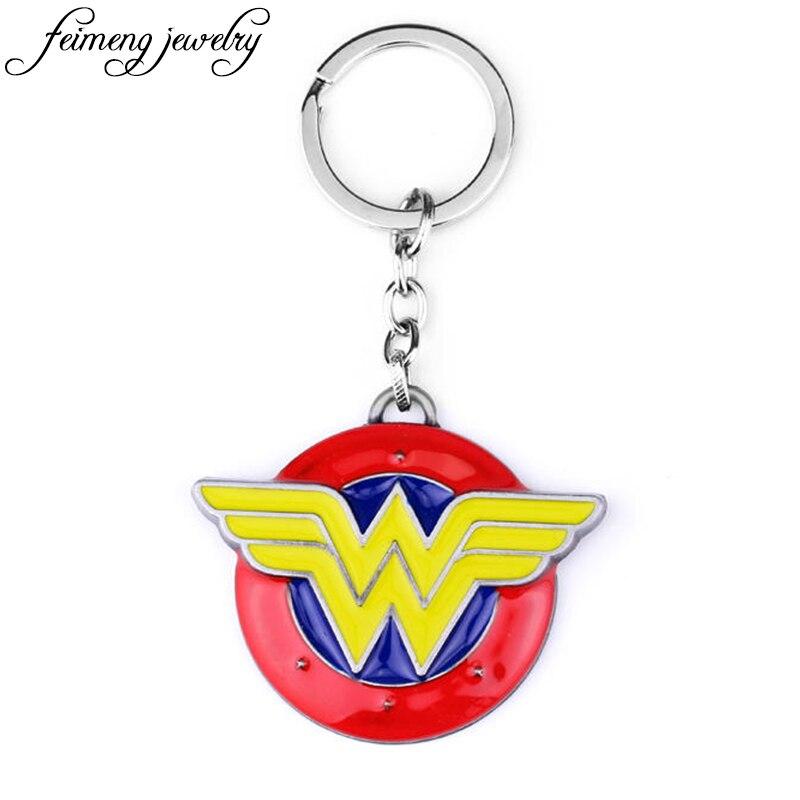 DC Superhero Wonder Woman Key Chain Movie Series Keyring For Chaveiro Llavero Key Ring Key Holder Fashion Jewelry Accessories