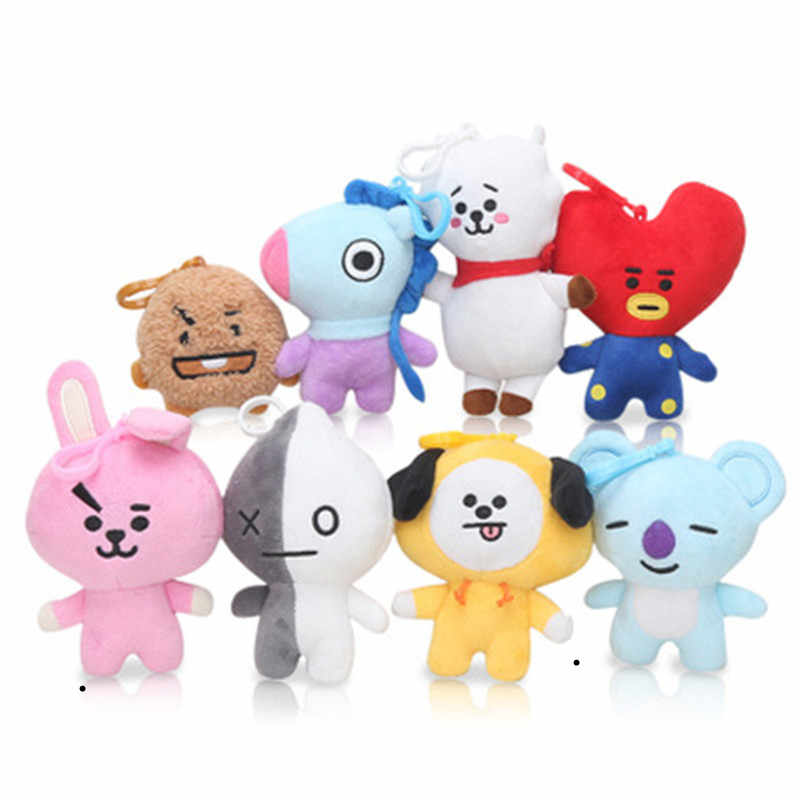 9c2db40785d3 8-15cm Cute Cartoon BTS BT21 Plush Doll Toy Bangtan Boys Tata Chimmy Mang  Van