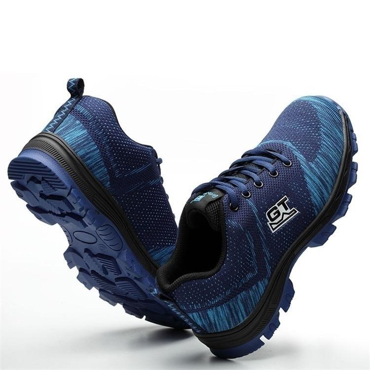 Trabalho Segurança Aço Superiores Livre bu Ao Altas Escalada Biqueira Bk Homens rd Sapatilhas Flyknit Sycatree Casuais Sapatos Respirável Ar Dos De Com gz8wzq