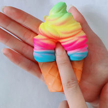 10CM Kids PU Simulation Candy Color Ice Cream Ball Squishy Toy Cake Bread Gag Joke Toys Slow Rising Squeeze Anti-stress P15